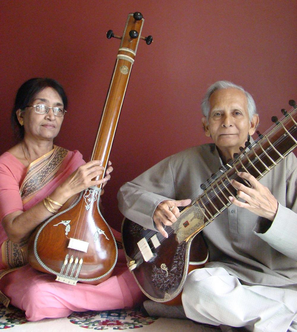 Tulu (left) and Prasanta Bhanja