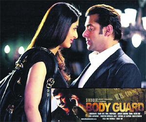 Bollywood stars Salman Khan and Kareena Kapoor in Bodyguard