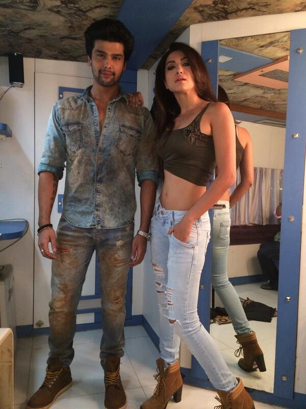 kushal Tandon Gauhar Khan in Fear Factor