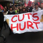 NZ students protest outside PM's conference